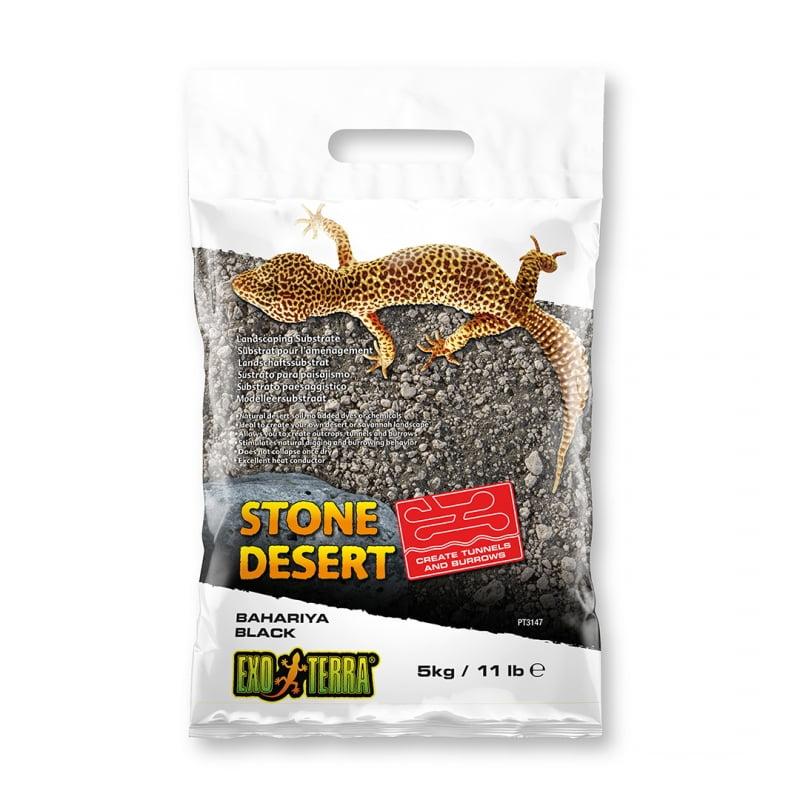 Ex Stone Desert Substraat Bahariya Zwart 5kg