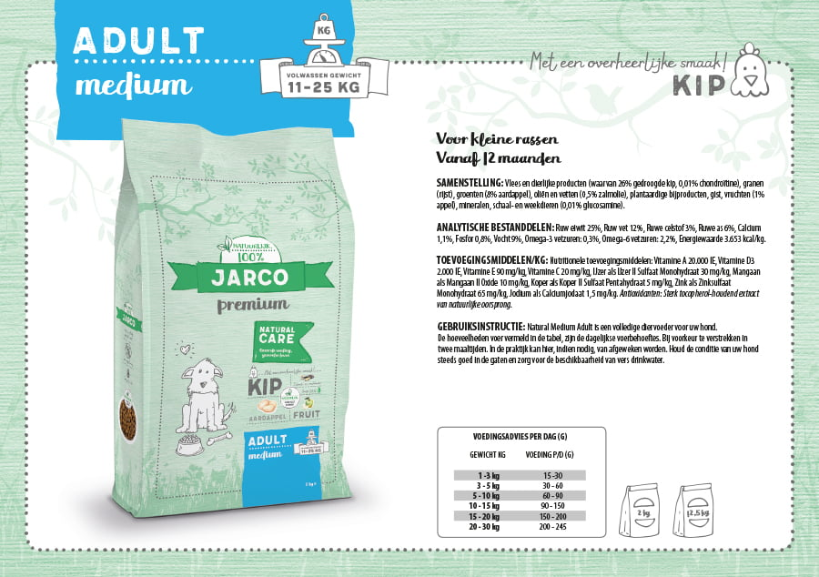 Jarco Premium Adult Medium Eend 12 kg