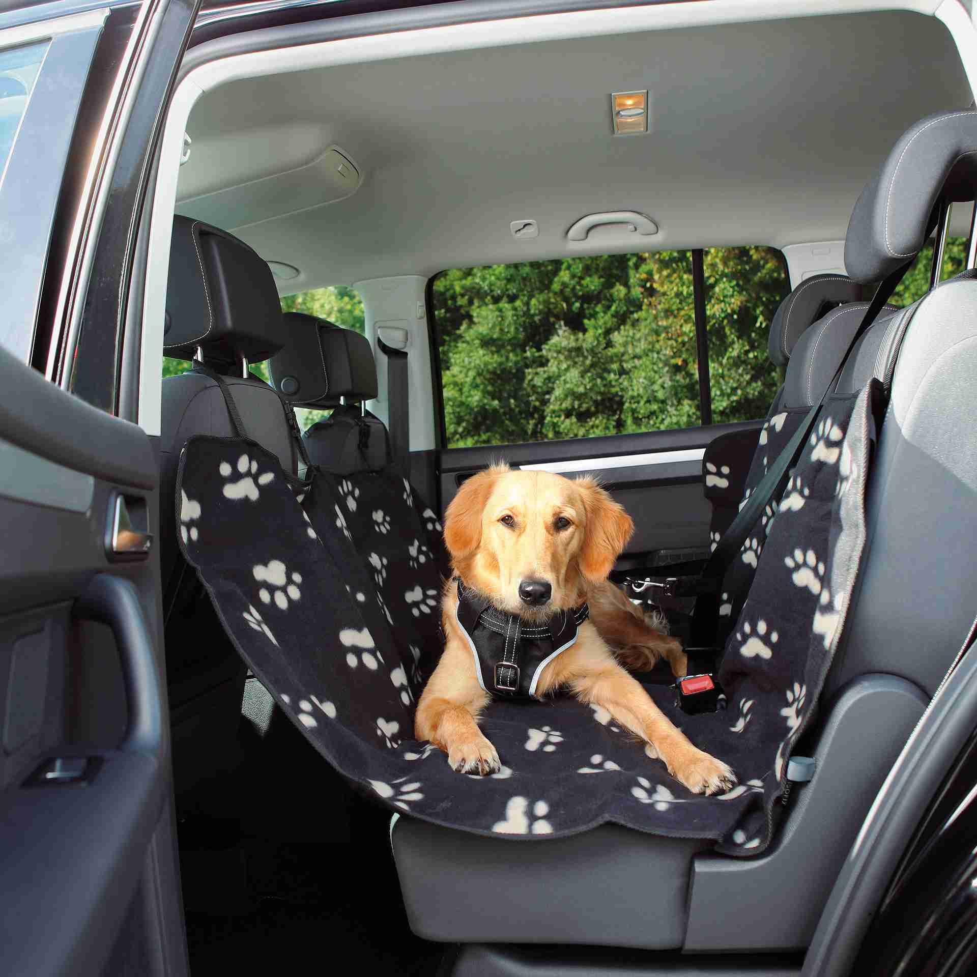 Trixie Auto Beschermdeken  Zwart/Beige 140x145cm