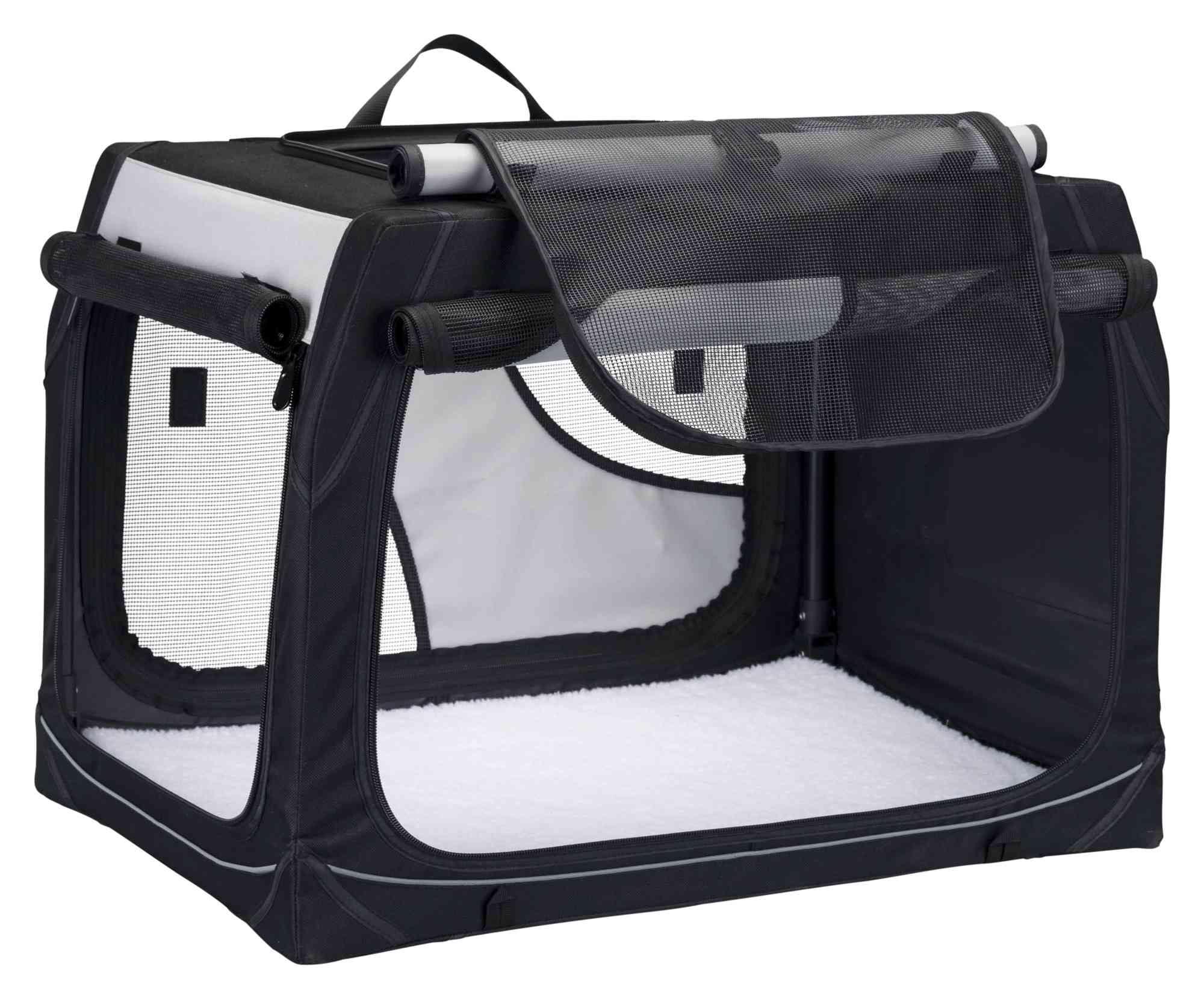 Trixie Vervoersbox  91 x 58 x 61 cm, zwart grijs