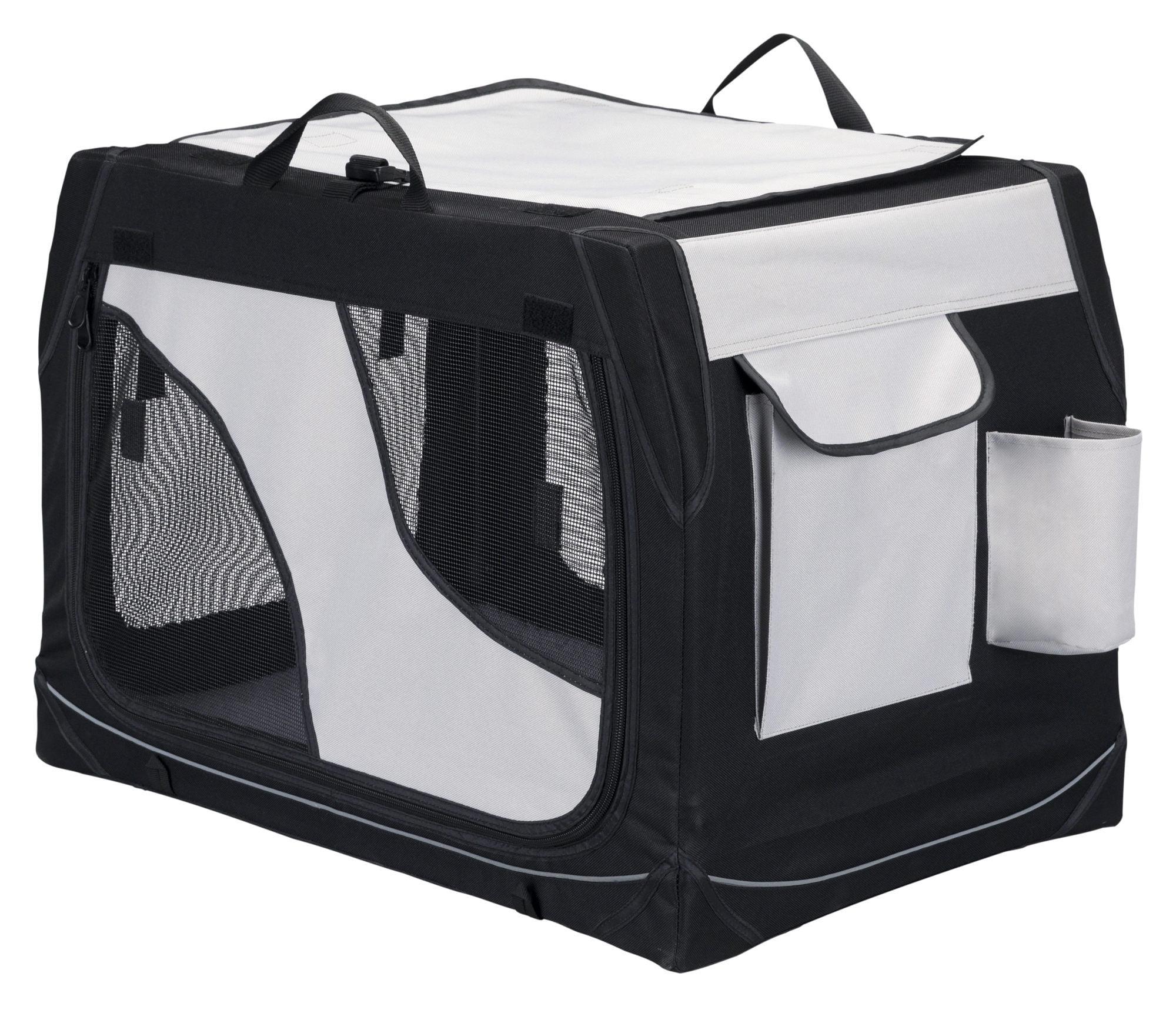 Trixie Vervoersbox  76 x 48 x  51 cm, zwart grijs