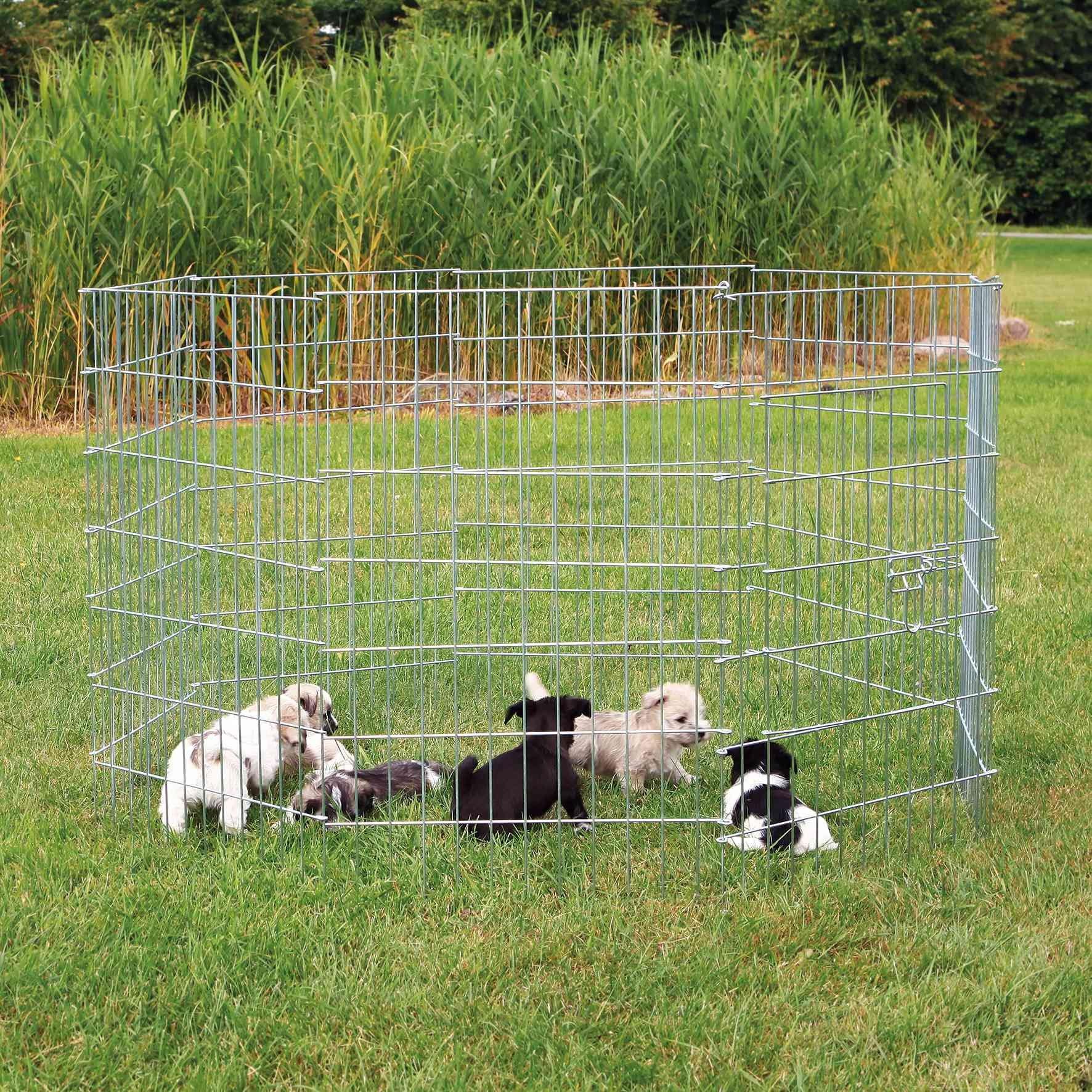 Trixie Puppy Ren gegalvaniseerd  r154x91cm
