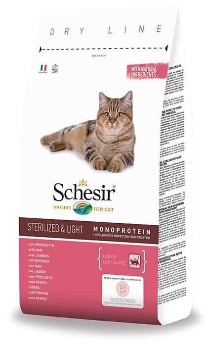 Schesir Kat Sterilized & Overgewicht 400gr Ham