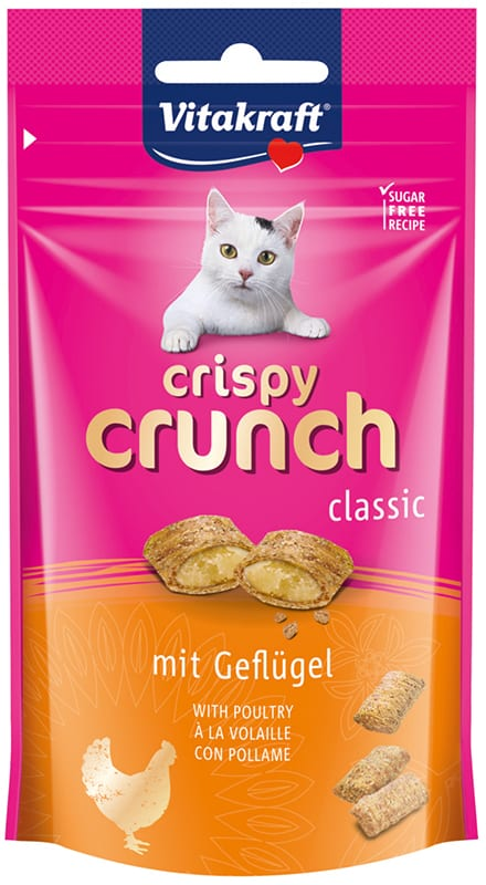 Vitakraft Cat Crispy Crunch Gevogelte 60gr
