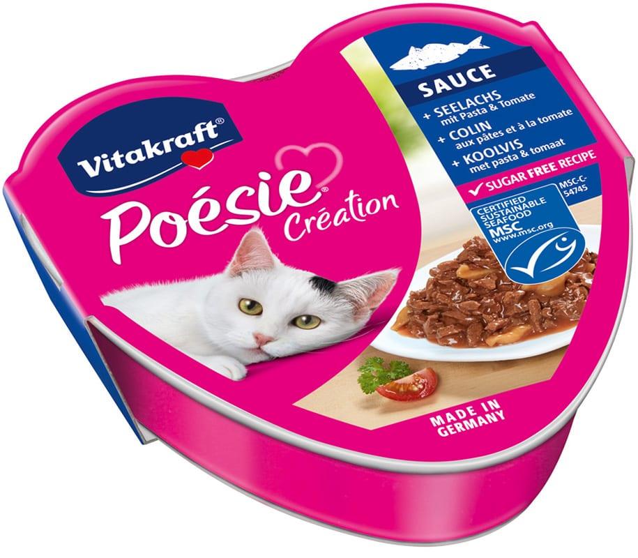 Vitakraft Cat Poesie Koolvis, Pasta & Tomaat Gelei 85gr