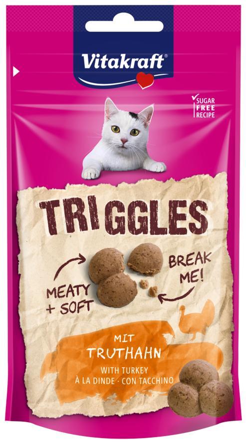 Vitakraft Cat Triggles Kalkoen 40gr