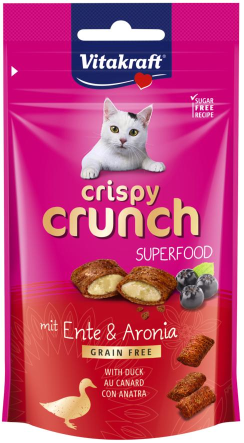 Vitakraft Cat Crispy Crunch Eend Aronia 60gr