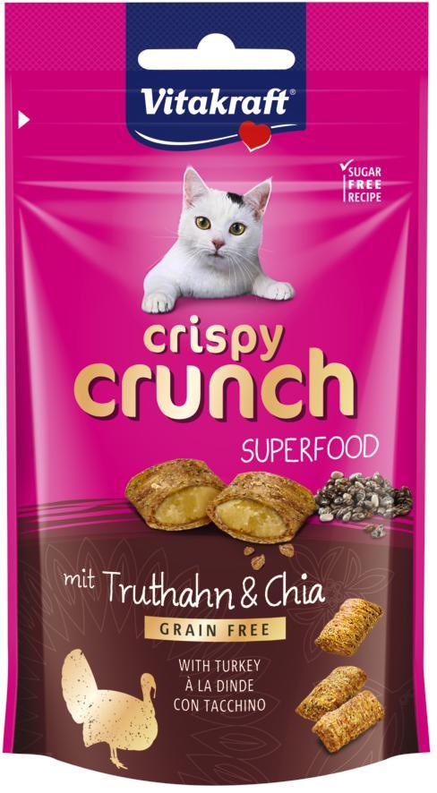 Vitakraft Cat Crispy Crunch Kalkoen&Chia 60gr