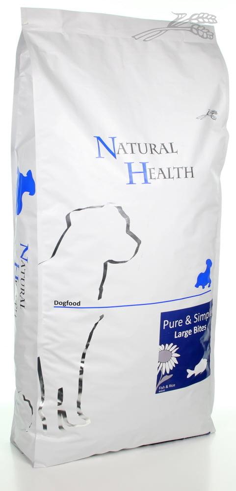 Natural Health Dog Fish & Rice large  bite Adult 12,5kg