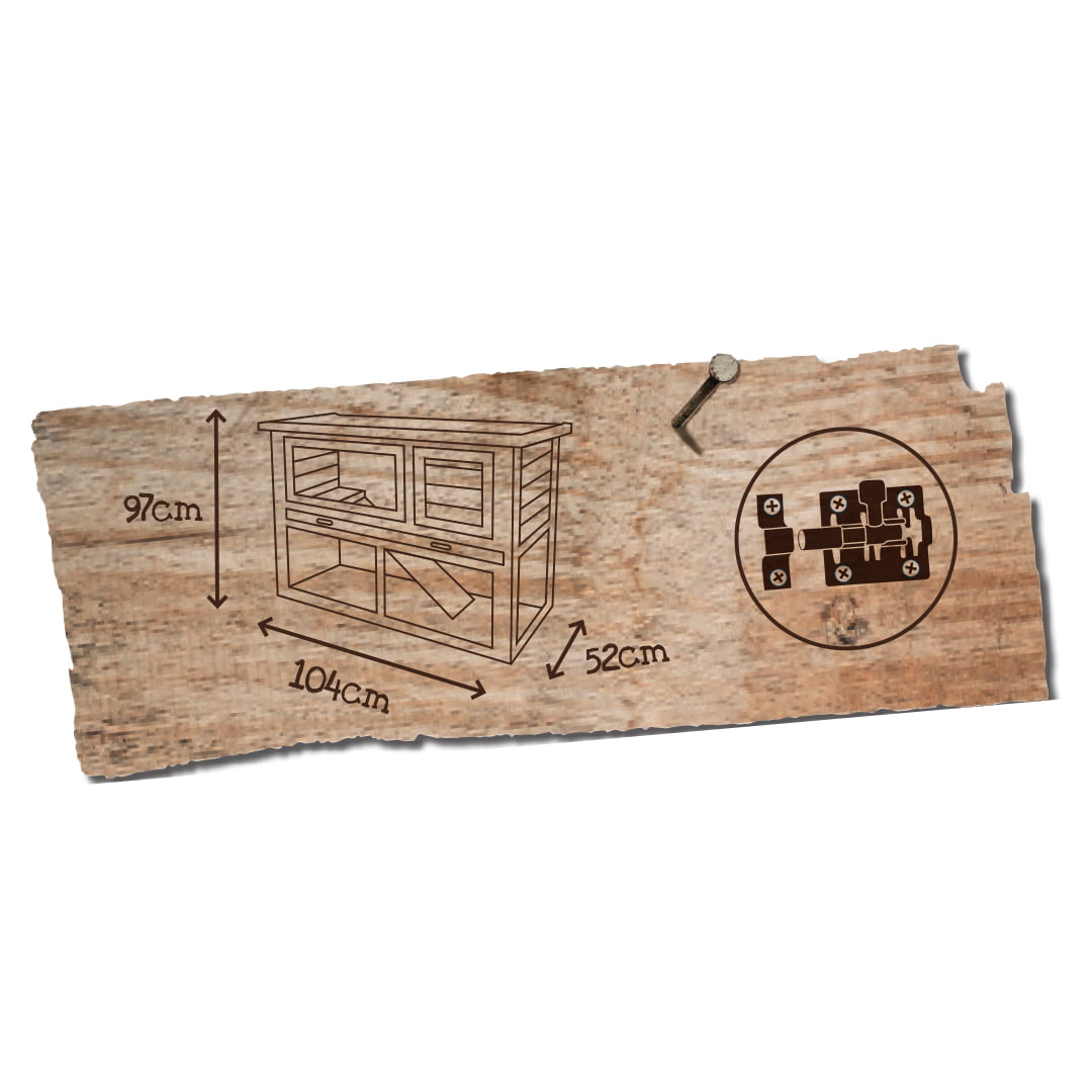 Woodland Konijnenhok Redmond classic 104x52x97cm