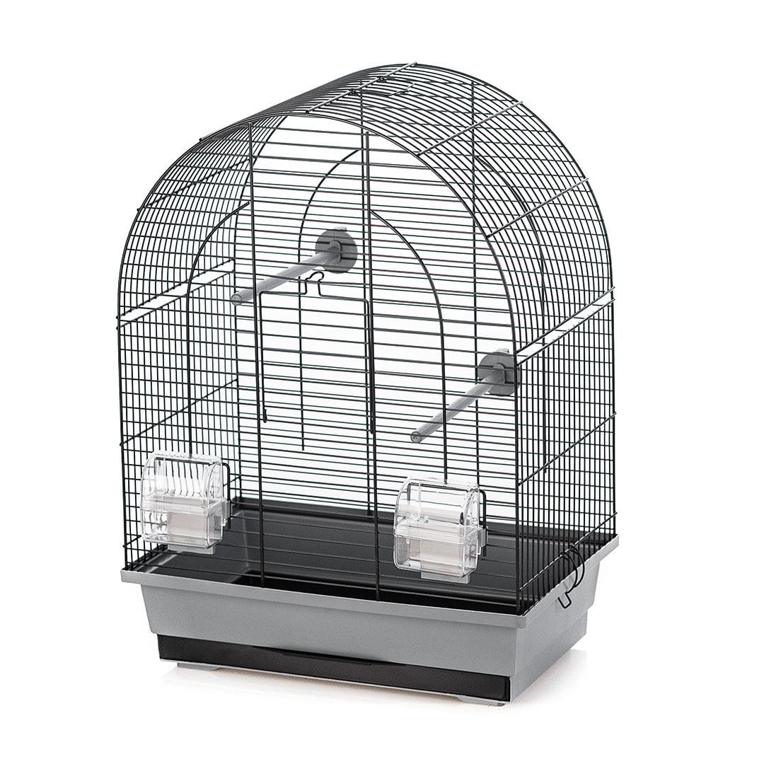 Vogelkooi Lusi 1 grijs/zwart 39x25x53cm