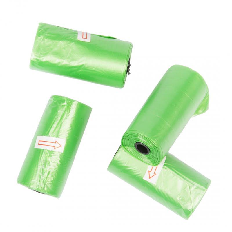 Poepzakjes 4×20 stuks groen bio