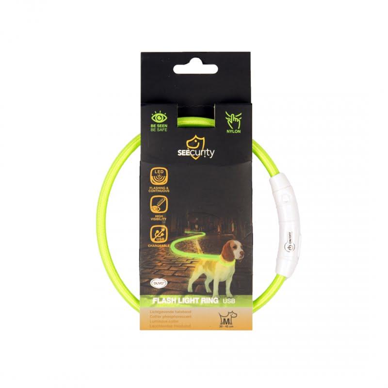 Seecurity Ring flash licht usb nylon Geel 35-65cm