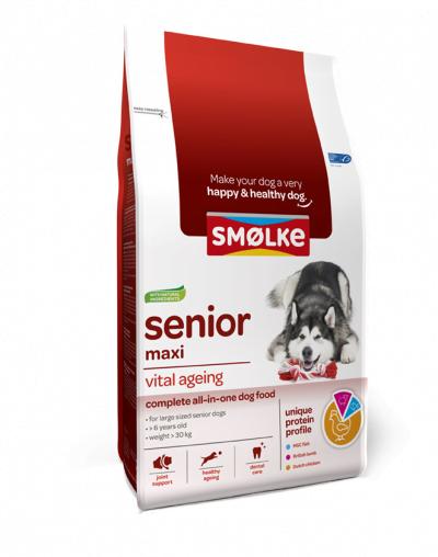 Smolke Hond Senior Maxi 3kg.