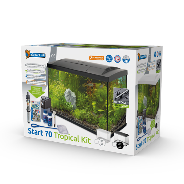 SUPERFISH START 70 TROPICAL KIT ZWART