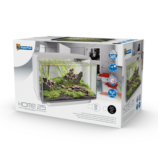 SUPERFISH HOME 25 AQUARIUM ZWART