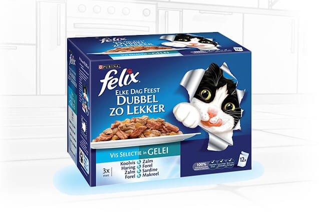 Felix Pouch Double Delicious Vis 12x100gr