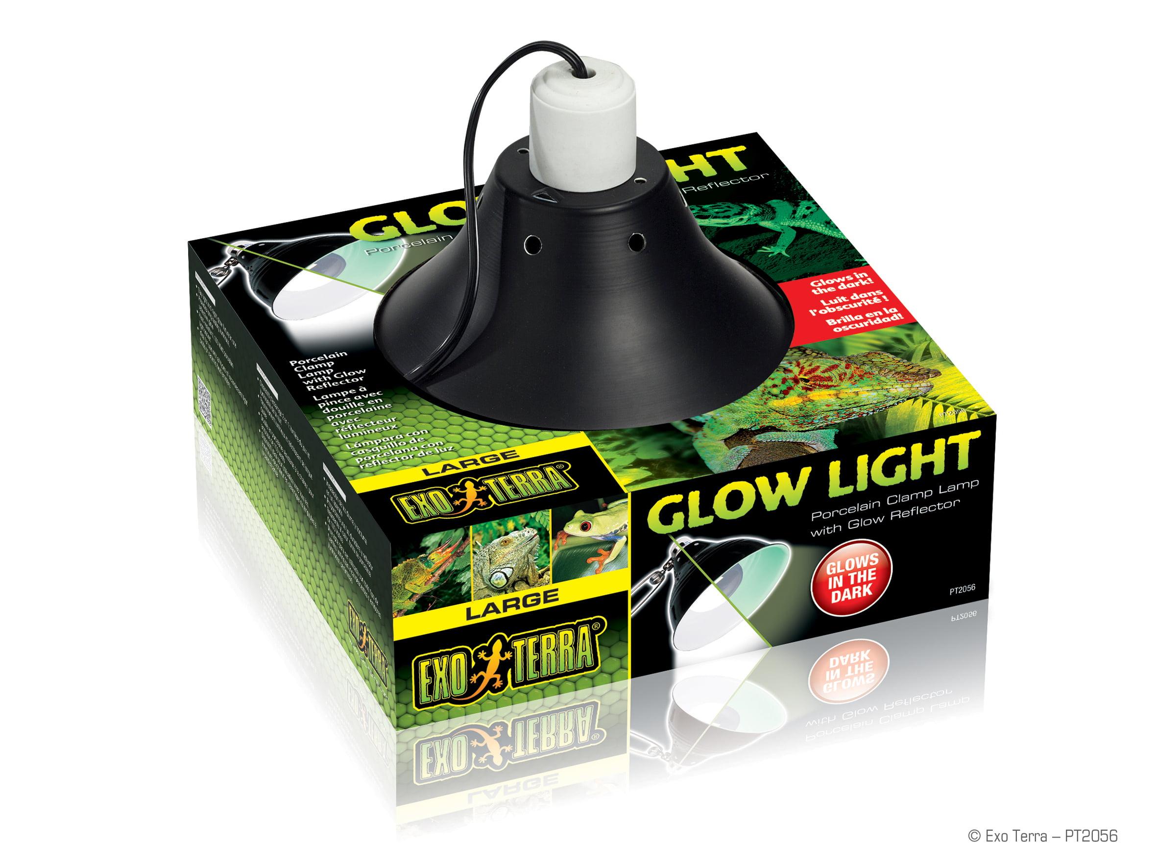 Ex Klemlamp + glow reflector porselein L/25CM