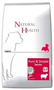Natural Health Dog Lamb & Rice Senior 12.5kg
