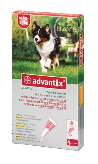 Bayer Advantix Hond 250   10-25kg 4pip