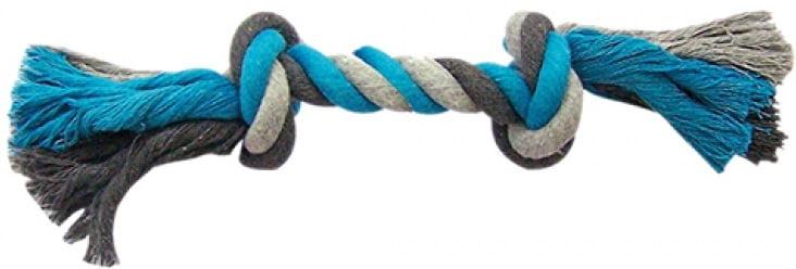 Dogtoy Knoop Katoen XL 37cm  Blauw/Grijs