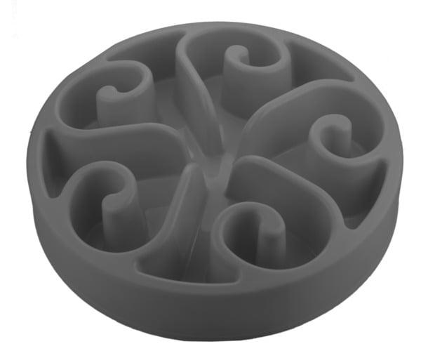 Anti-schrok voerbak grijs 20.5 cm
