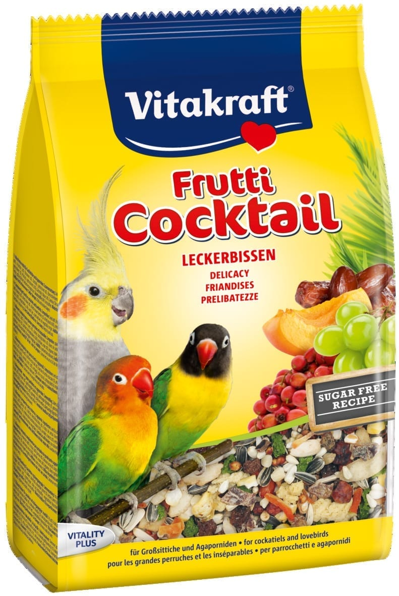 Vita Frutti Cocktail valkparkiet en agapornide
