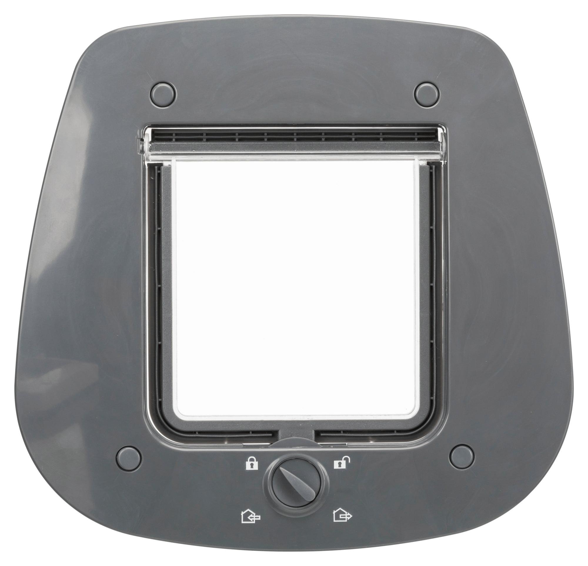 Trixie Huisdierluik 20x22cm Grijs Speciaal Voor Glas