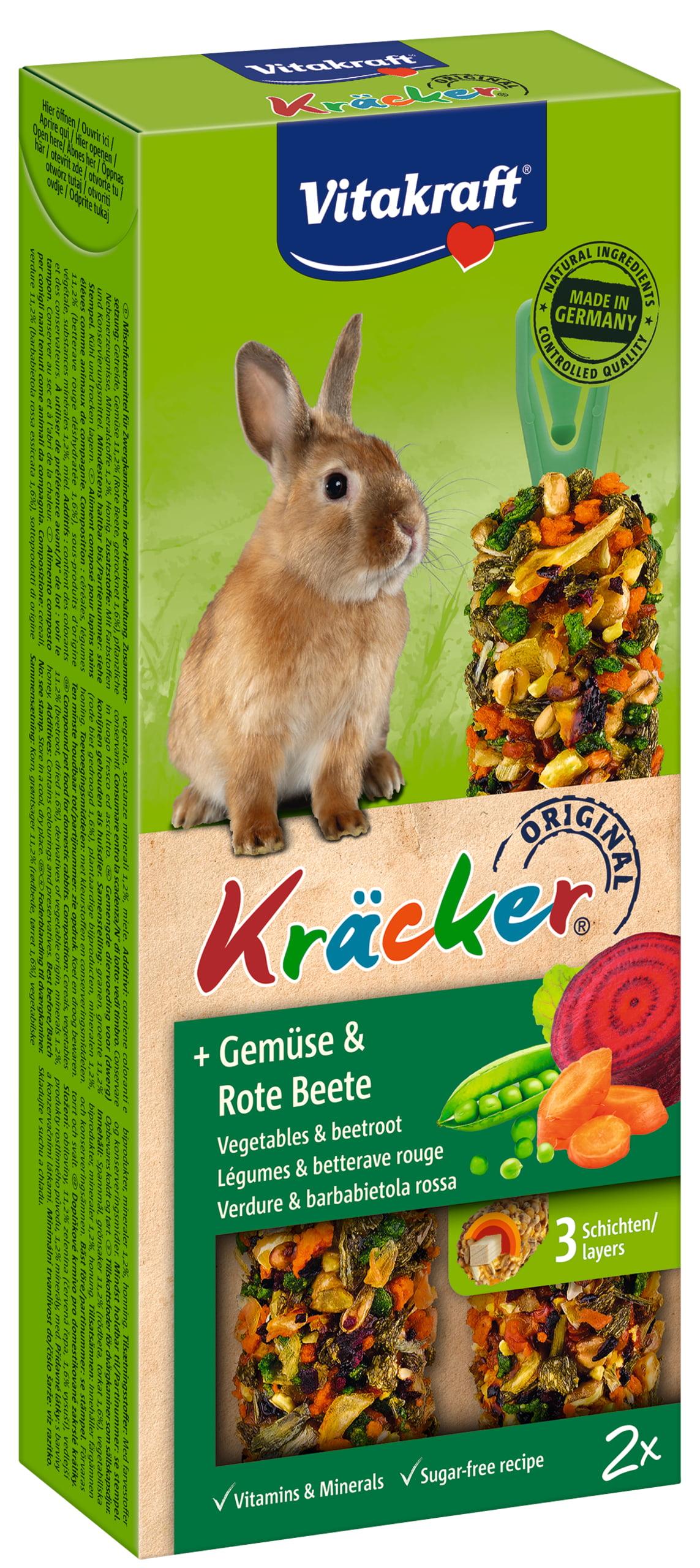Vita Dwergkonijnkracker Groente/Rode Biet 2in1