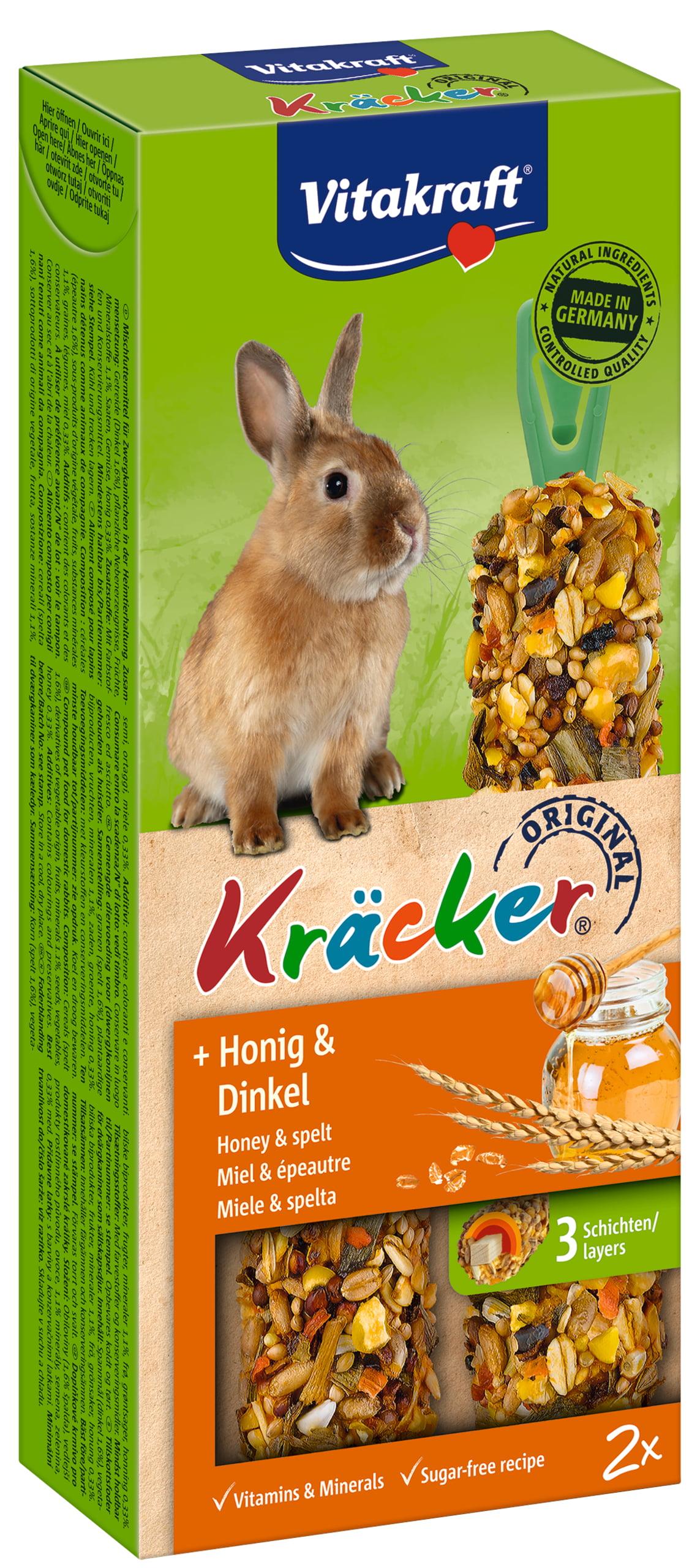 Vita Dwergkonijnkracker Honing/Spelt 2in1