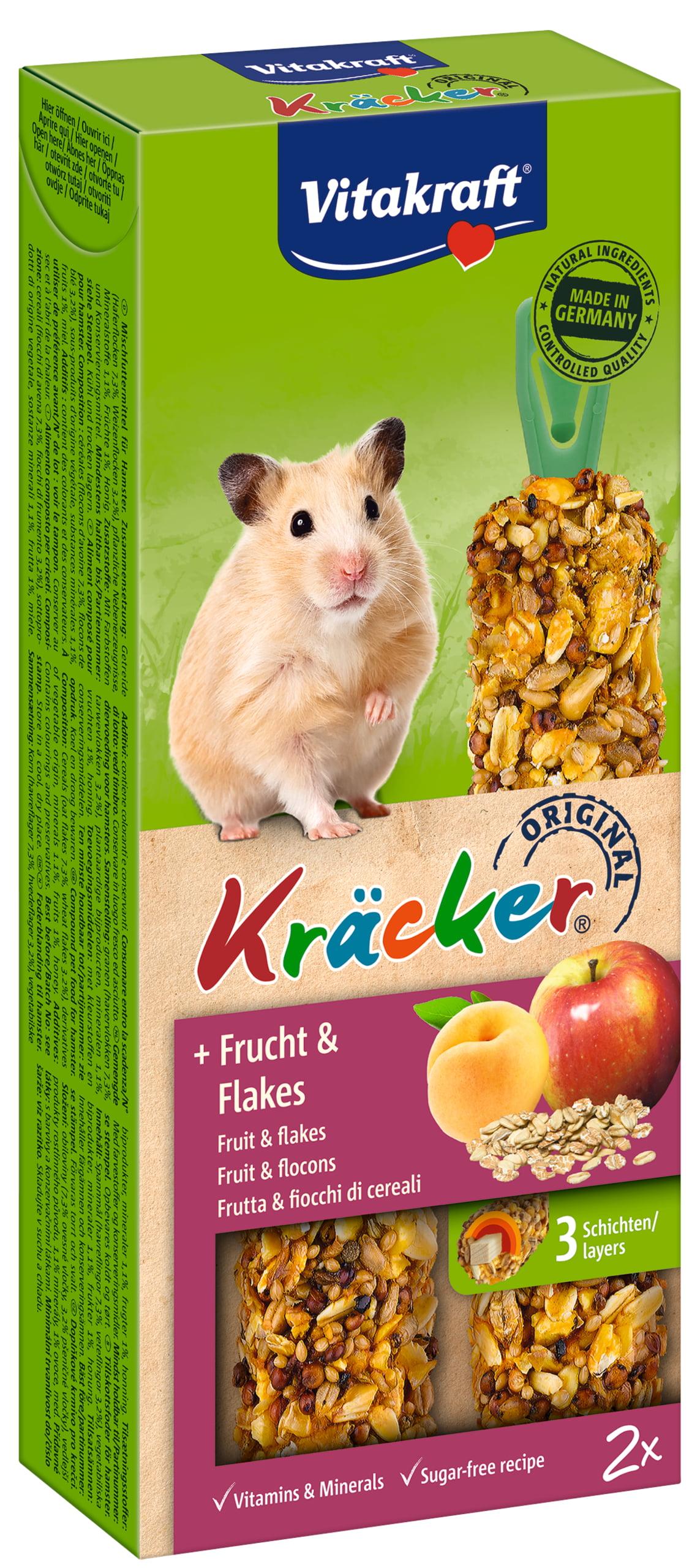 Vita Hamterkracker Fruit/flakes 2in1