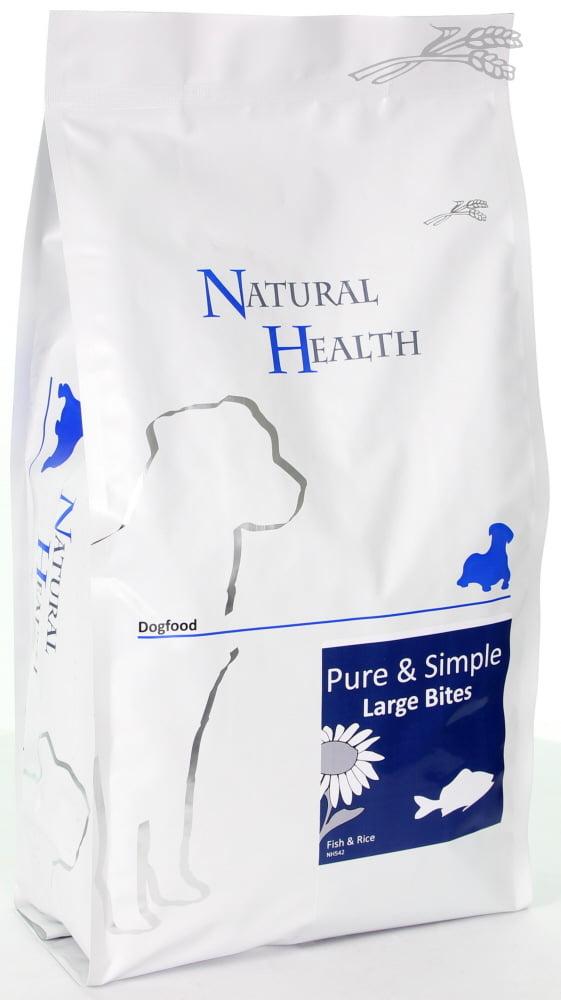 Natural Health Dog Fish & Rice large bite Adult 2,5kg