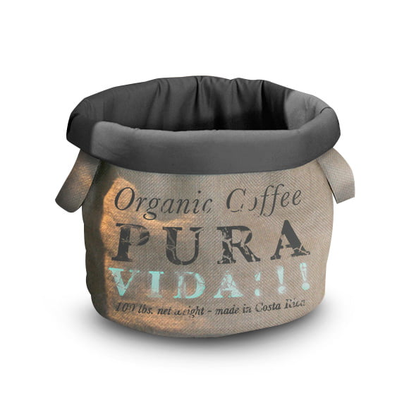 D&D HomeCollection Pet-Bag Coffee Pura Vida 35cm