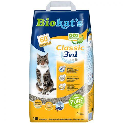 Kattenbakvulling Biokats 3in1 Classic 18ltr