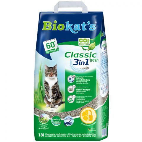 Kattenbakvulling Biokats 3in1 Fresh 18ltr