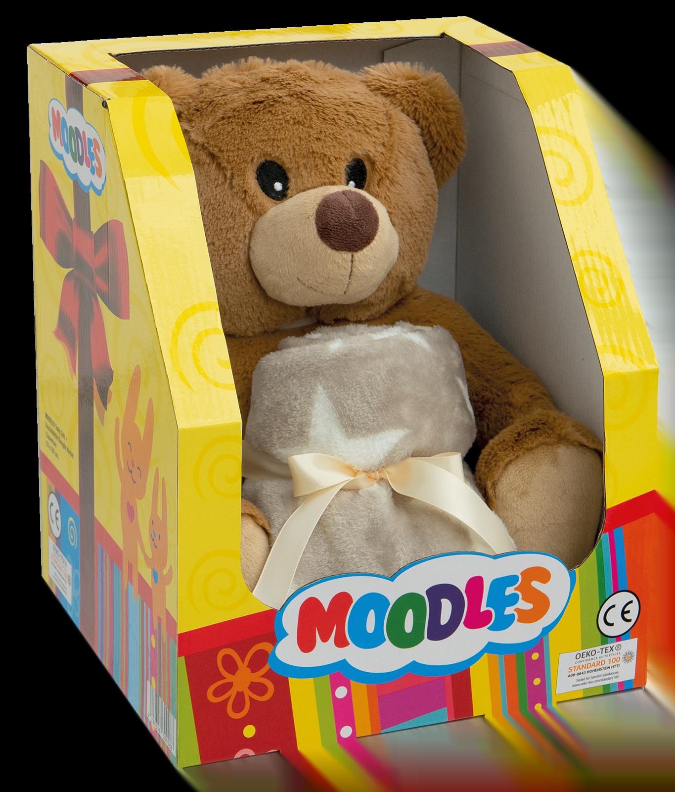 Moodles Teddy beer en fleecedeken 100 x 70cm