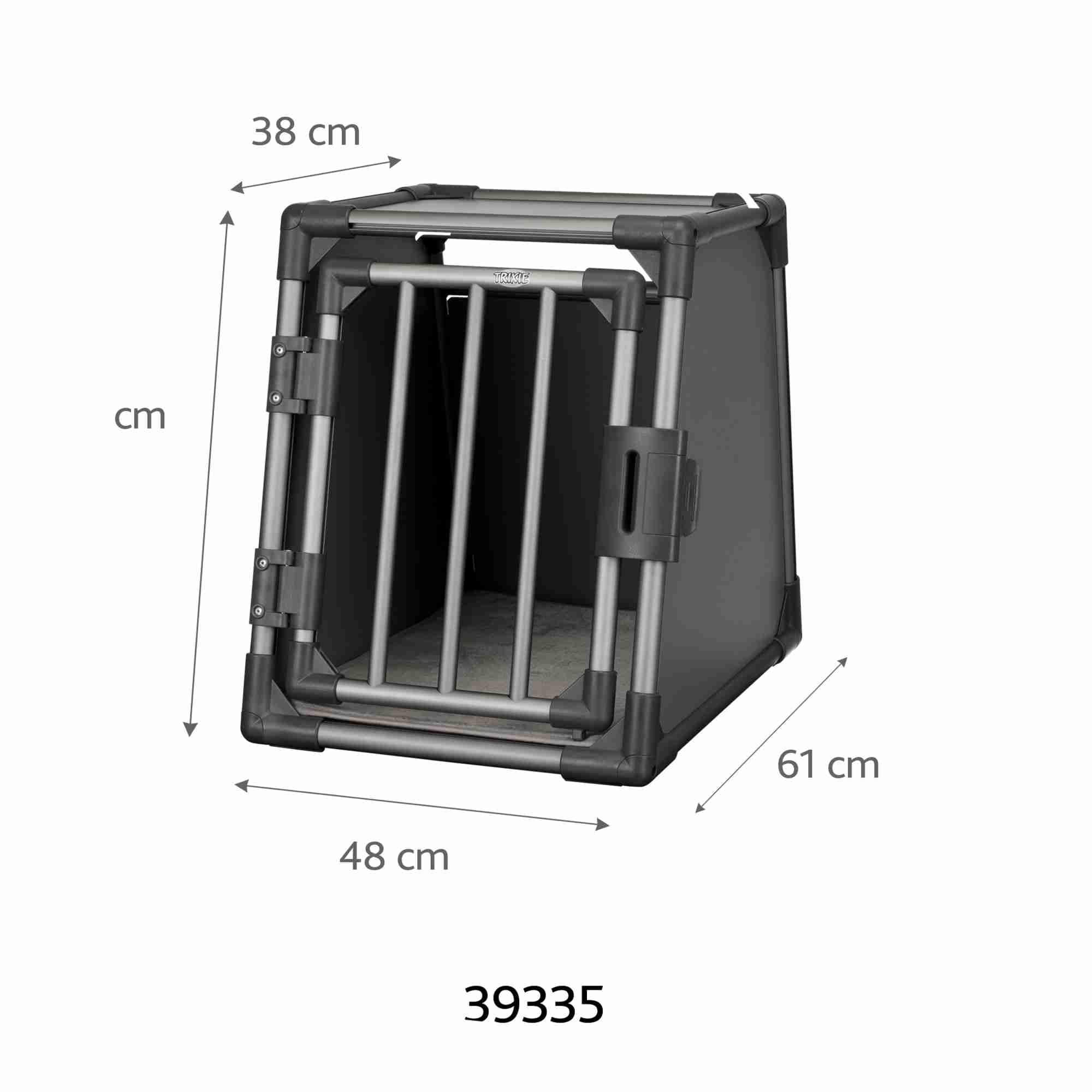 Trixie Vervoersbox Aluminium 48x61x56 cm grafiet