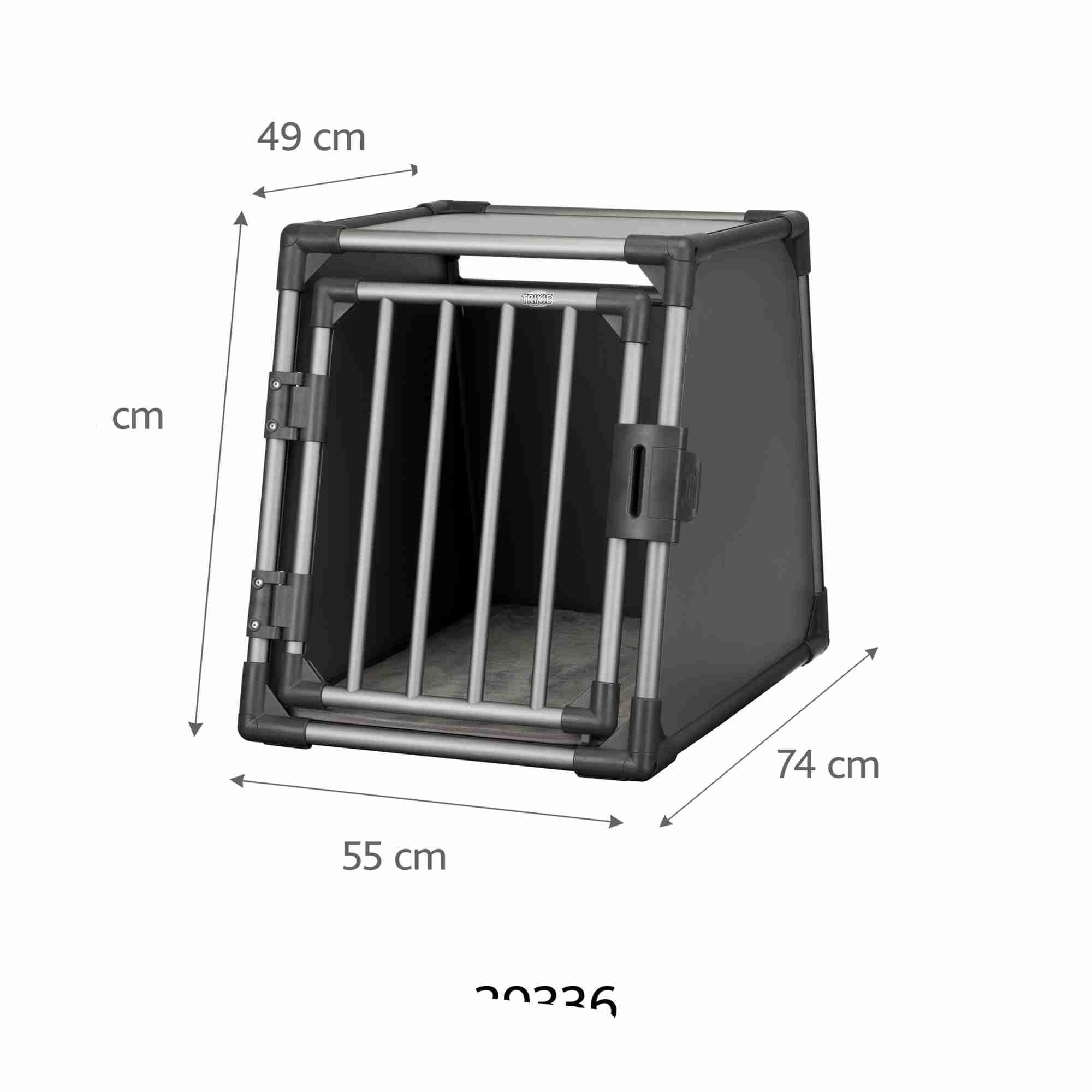 Trixie Vervoersbox Aluminium 55x74x61cm grafiet