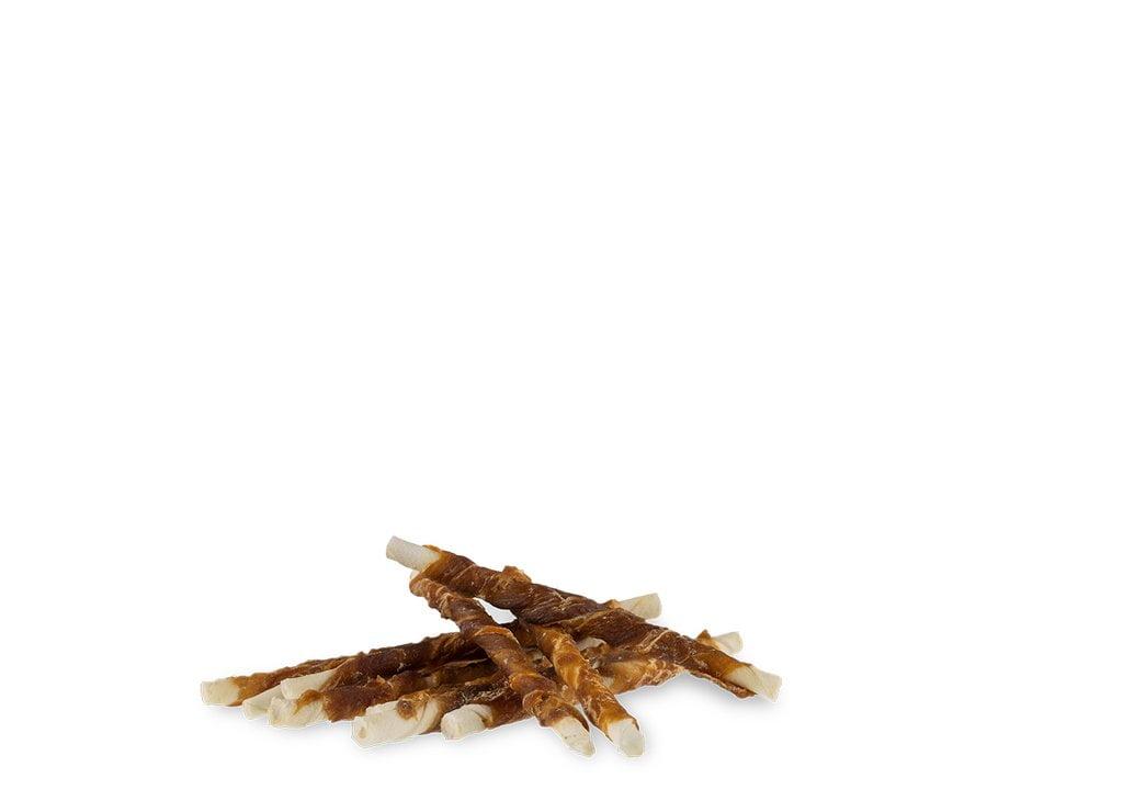 Meervoordieren Wit gedraaid Eendstaaf 12,5cm 100st