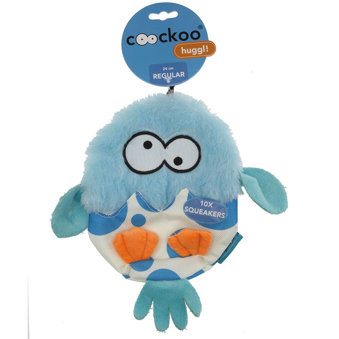 Coockoo Huggl squeakers Blauw 24x18cm