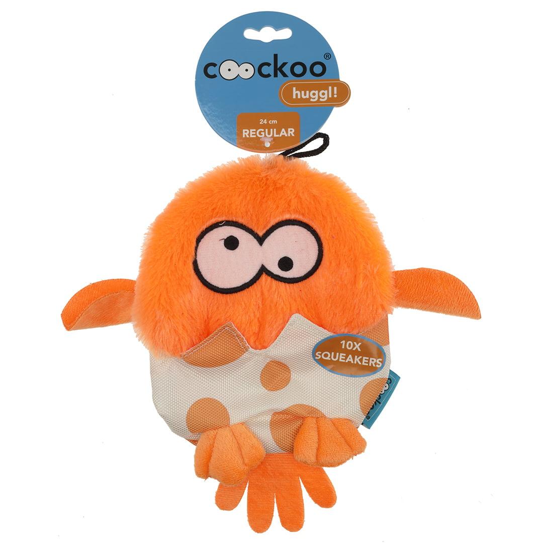 Coockoo Huggl squeakers Oranje 24x18cm